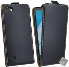 Housse etui coque pochette PU cuir fine pour LG Q6 + film ecran