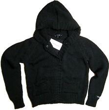 Giacca Donna Con Cappuccio Nero Denny Rose Jacket Black Made In Italy  0550