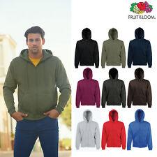 Fruit of The Loom Premium 70/30 Hooded Sweatshirt Jacket -Men's plain Zip Hoodie