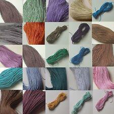 10m Baumwollband gewachst Wachsband Baumwollfaden Schnur cotton wax cord 0,10€/m