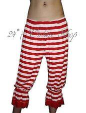 Rouge et blanc rayé rayures longue culotte bouffante Halloween thème costumes