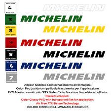 michelin adesivi pvc auto sticker sponsor moto helmet tuning 4 pz. cm. 10-13