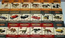 Retro Clockwork Toy Models - Wild Animals Dinosaurs Classic Cars - Bnib