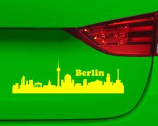 Aufkleber Berlin Skyline mehrere Größen  11 Farben 2 Größen