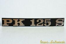 VESPA Emblem Schriftzug Seitenhaube - PK125S / PK 125 S - Seitendeckel Chrom