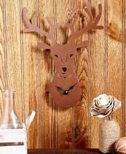 Metal Die-Cut Wildlife Wall Clocks Northwoods Lodge Clock Western Horse Clocks