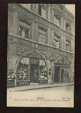 FRANCE AMIENS 1917 PPC MODES DEUIL SHOP FRONT HATS SHOES + TAVERNIER PELIEUR