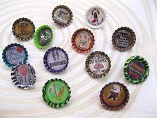 New Zombie Theme Bottlecap Pin -Zombies BrainsGuns Walkling Dead Blood