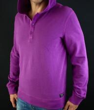 Armani Exchange A|X Logo Pique Textured Hooded Snap Button Pullover Shirt NWT
