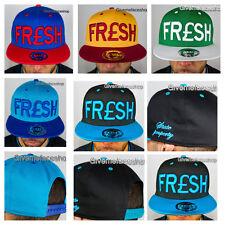FRESH SNAPBACK CAPS, DOPE FLAT PEAK BASEBALL FITTED HATS, RETRO, HIPHOP VINTAGE