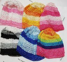 Baby Boy Girl Crochet Knitted Costume A/Beanie Multi Colour raimbow 0-6 Mths