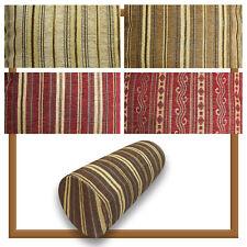 Bolster Cover*Stripe Chenille Neck Roll TubeYoga Massage Pillow Case Custom*Wk8b