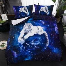 White tiger Quilt Duvet Cover pillowcase Twin Full Queen King Sizes Bedding Set