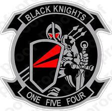 STICKER USN VF 154 Black Knights FIGHTER SQUADRON C