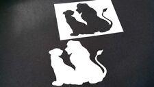 Lion King Inspired Airbrush Stencils Silhouette Simba Nala Wedding Cake Paint