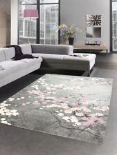 Carpet designer rug living room carpet floral motif gray pink