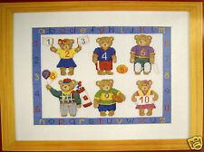 Teddy Bear Sports Sampler - Semco counted cross-stitch kit