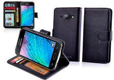 Black Wallet Leather Case Cover - Samsung Galaxy J1 J100Y