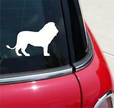 LION WALKING SILHOUETTE AFRICA GRAPHIC DECAL STICKER ART CAR WALL DECOR