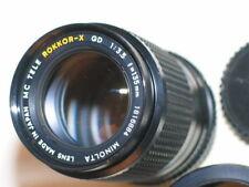 KONICA MINOLTA MC TELE ROKKOR X QD 135mm f3.5 LENS W/ORIGINAL HOOD