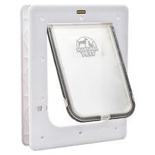 Hakuna Pets SUPER TOUGH PET DOOR 2-Way Locking Flap WHITE- Small,Medium Or Large