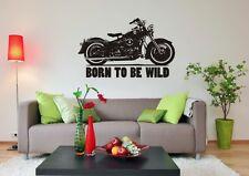 "Wandaufkleber,Wandtattoo, ""Born to be Wild"" - Harley Davidson - Motorrad"