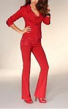 Traje chaqueta y pantalón LAURA SCOTT NUEVO l-gr.72, 76,80 Rojo blazer mujer
