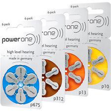Batterie per Apparecchio Acustico POWERONE Pile Tonde Typ DA 10, 13, 312, 675