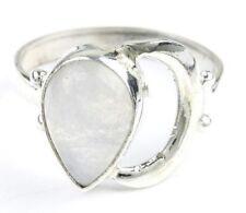 Moon Goddess Ring, Sterling Silver Moonstone Ring, Stone Jewelry, Gemstone, Boho