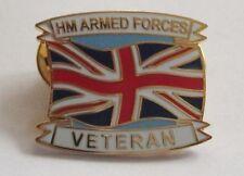 HM ARMED FORCES VETERAN LAPEL PIN OR WALKING STICK MOUNT