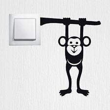 Wandtattoo Hängender Affe Aufkleber Schalter Monkey Sticker Wandaufkleber