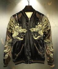 Mens Souvenir Jacket Sukajan Japanese Pattern Embroidery REVERSIBLE Dragon Totem