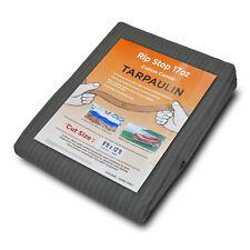 Toile Ripstop bâches 17 oz (environ 481.93 g) gris poids lourd Bateau Housse Log Store Feuille