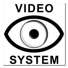 Sistema de vídeo ojo 5cm Pegatina Sticker cctv cámara de vigilancia nota de alarma