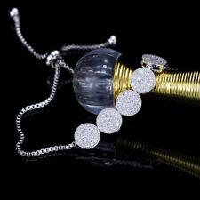 Stones Charm Adjustable Chain Bracelets Cwwzircons Fashion Shiny Cubic Zirconia