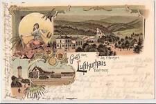 Litho Barmen Luftkurhaus & Bahnhof Töllethurm 1897