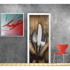 Affiche poster porte déco Cuisine couverts 824 Art déco Stickers
