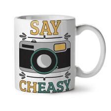Cámara decir Cheasy Divertido Nuevo Blanco Té Café Taza 11 OZ (approx. 311.84 g) | wellcoda