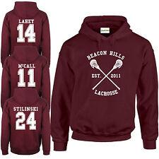 Beacon Hills Lacrosse HOODIE Wolf 24 Teen Stilinski McCall Lahey All Names S-2XL