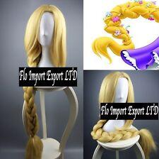 Rapunzel Parrucca Treccia 120 cm Carnevale Cosplay Tangled Wig Braid RPZWIG2