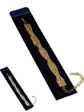 Soft Twist Crystal Diamante Bracelet