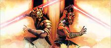 Zabraks Savage Opress & Darth Maul Postmodern Star Wars Art Giclée on Canvas