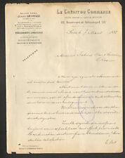 """PARIS (II°) BANQUE """"LE CREDIT DU COMMERCE / Agence Jules GRANGER"""" en 1892"""