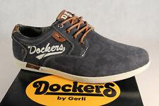 dockers homme chaussures à Lacets Baskets Chaussures basses Pantoufles Noir Neuf
