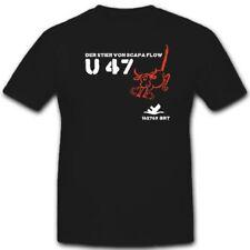 Uboot 47 U47 Militär Marine Untersee Schlachtschiff Unterseeboot T Shirt #3251