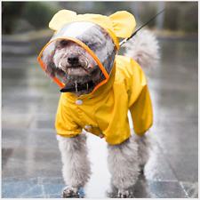 Outdoor Dog Puppy PVC Waterproof Clear Transparent Hat Rain Coat Jacket Hood