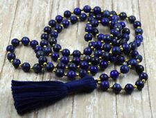 6/8/10mm lapis lazuli 108 Tibetan Buddhist Prayer Beads Mala Necklace AAA+