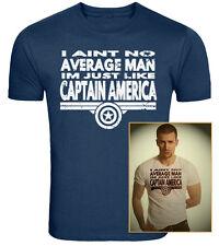Captain America Inspired T-Shirt Im No Average Man Original Design Screenprinted