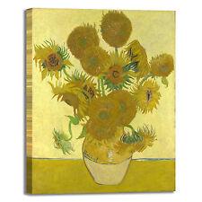 Van Gogh i girasoli 2 design quadro stampa tela dipinto telaio arredo casa