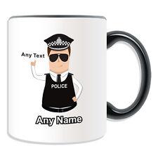 Regalo Personalizzato assistente capo Constable TAZZA Money Box Coppa Capelli Castani Taxi Cappello